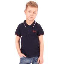 """Рубашка-поло для мальчиков темно-синего цвета """"Формула"""""""
