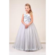 Платье нарядное в пол цвета серебро Лиана