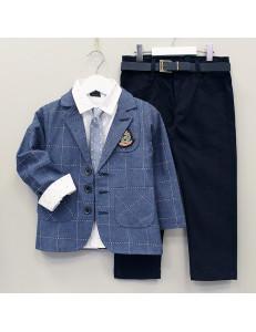 """Костюм для мальчиков с пиджаком цвета джинс """"Рыцарь"""""""